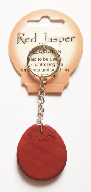 Crystal Energy - Red Jasper - Relaxation - Gemstone Keyring